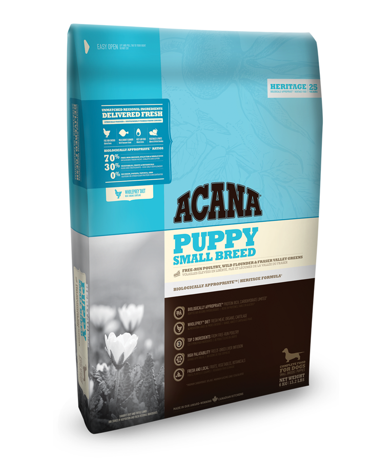 ACANA DOG Puppy Small Heritage 6kg+ 1x Pamlsek!