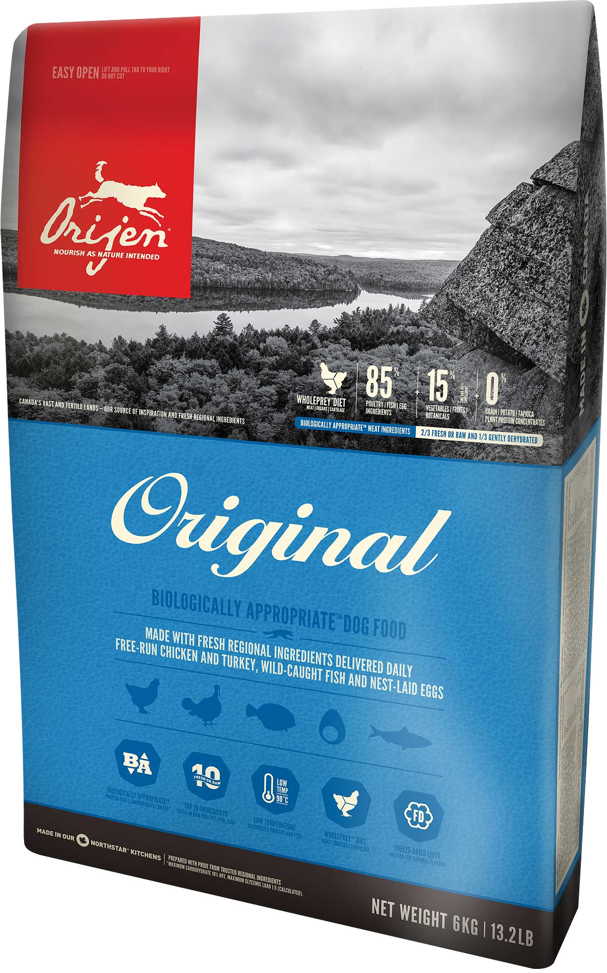 ORIJEN Dog Original (Adult) 2x11,4kg + DOPRAVA ZDARMA+1x Dental Crazy Snack!