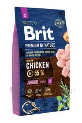Brit Premium Dog by Nature Junior S 8kg + DOPRAVA ZDARMA