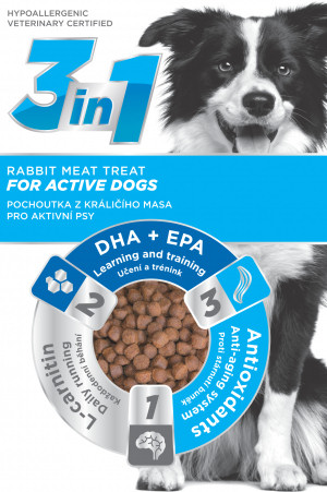 3in1 Dog Active králičí 100g