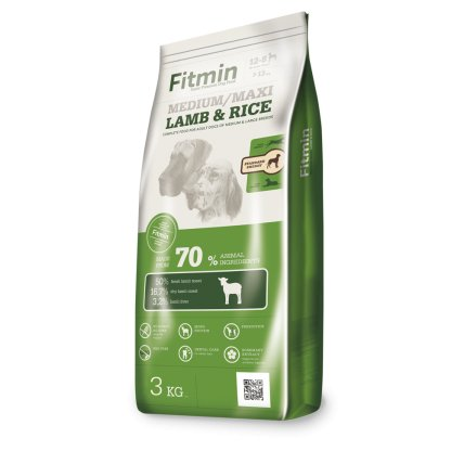 Fitmin Dog Medium/Maxi Lamb&Rice 3 kg