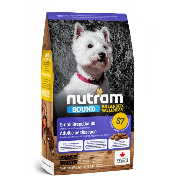 S7 Nutram Sound Small Breed Adult Dog 2kg