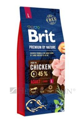 Brit Premium Dog by Nature Adult L 15kg + DOPRAVA ZDARMA!!!