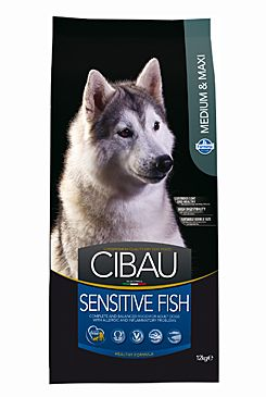 CIBAU Dog Adult Sensitive Fish Medium & Maxi 12KG+2KG +DOPRAVA ZDARMA+1x masíčka Perrito!