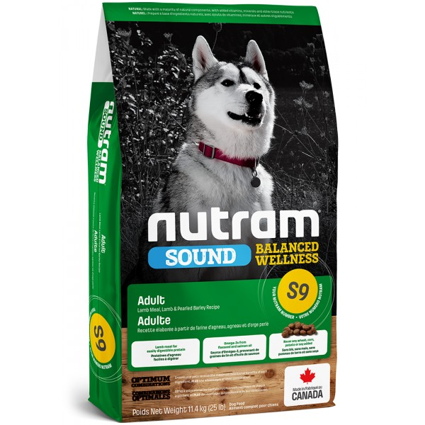 S9 Nutram Sound Adult Lamb Dog 2kg