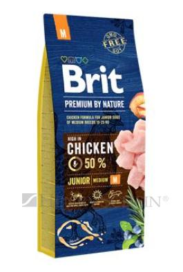 Brit Premium Dog by Nature Junior M 15kg+ DOPRAVA ZDARMA!