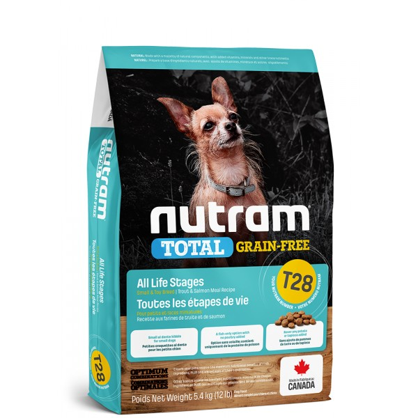 T28 Nutram Total Grain Free Small Breed Salmon Trout Dog 2kg
