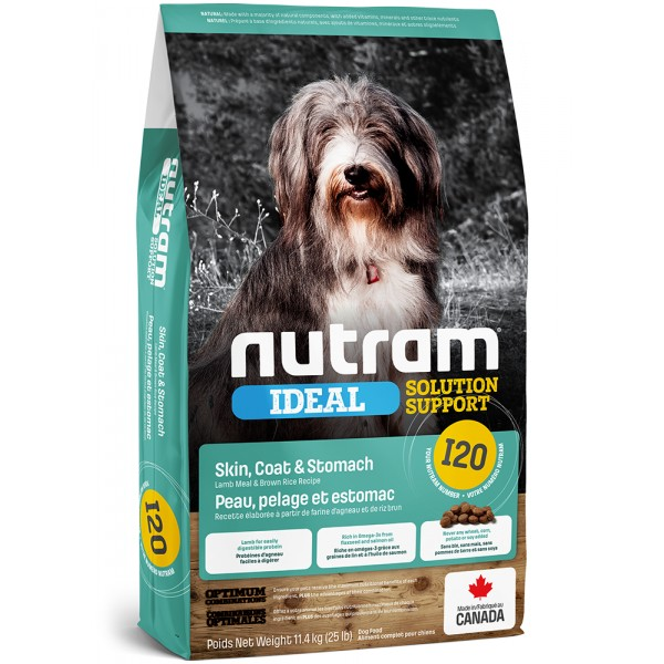 I20 Nutram Ideal Sensitive Dog 3x11,4kg+DOPRAVA ZDARMA+masíčka Perrito 50g!