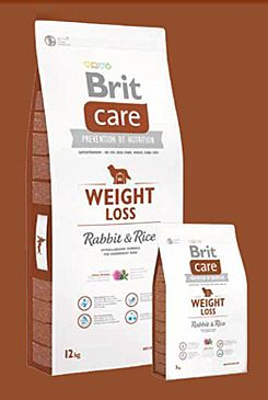 Brit Care Dog Weight Loss Rabbit & Rice 12kg+DOPRAVA ZDARMA+SNACKS!