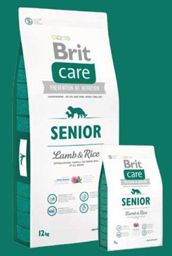 Brit Care Dog Senior Lamb & Rice 12kg+DOPRAVA ZDARMA+SNACKS!